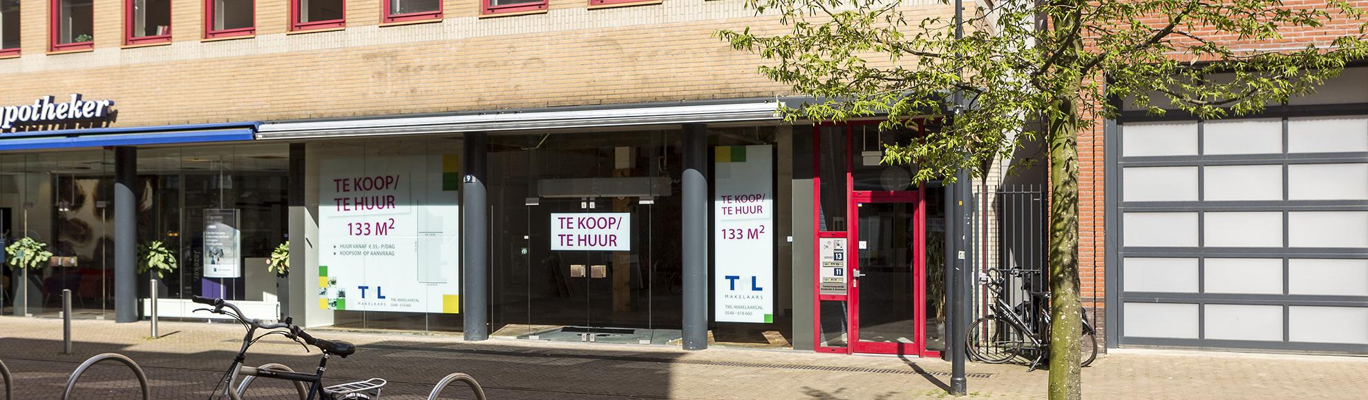 Vastgoed Stegeman winkelpand Nijverdal te koop te huur